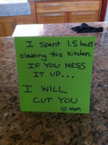 Moms just want a clean kitchen, right?