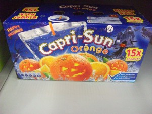 capri sun orange halloween